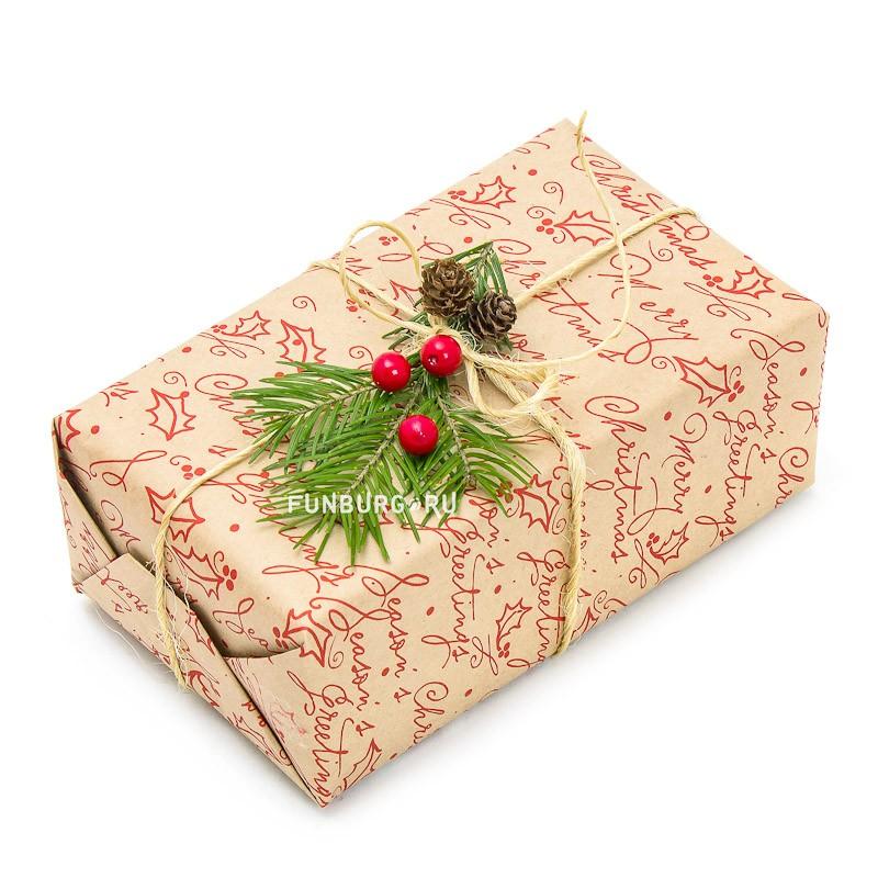 Подарочная упаковка «Новогодняя №3»Упаковка подарков<br>Состав: упаковочная бумага, джут, натуральный декор.Цветовую гамму и тематику упаковки можно обсудить с менеджером.Указана минимальная стоимость упаковки. Цена зависит от размера подарка.<br>