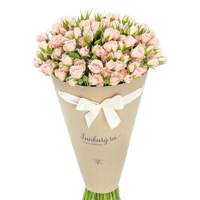 Цветы в конверте «Сеньорита»с розами<br> <br>Размер:<br><br><br>диаметр 23-25 см, высота 40 см<br><br>