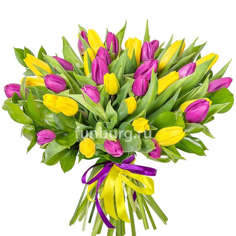 Букет тюльпанов «Флирт»Монобукеты<br>возможен выбор цвета тюльпанов<br>
