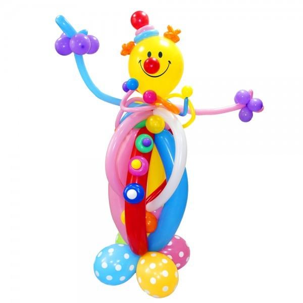 Фигура из шаров «Клоун на празднике»Все фигуры<br>Высота фигуры: около 170 см<br>