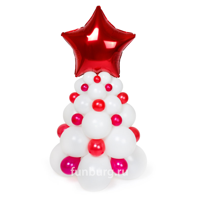 Фигура из шаров «Новогодняя ель»Все фигуры<br>Размер фигуры: 120?40 см<br> <br><br> Цвет ели, её вершина, детали украшения - все может быть изменено в соответствии с вашим желанием! Консультируйтесь с операторами интернет-магазина.<br><br>
