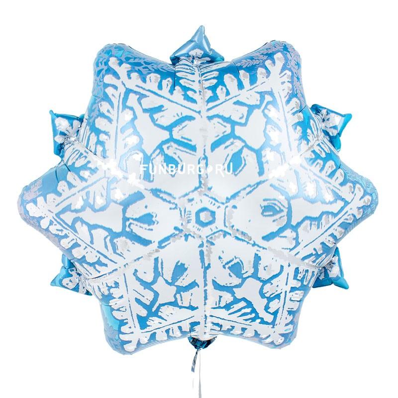 Шар из фольги «Снежинка»Новый год<br>Размер: 45 см (18)Производитель: Pioneer, США<br>