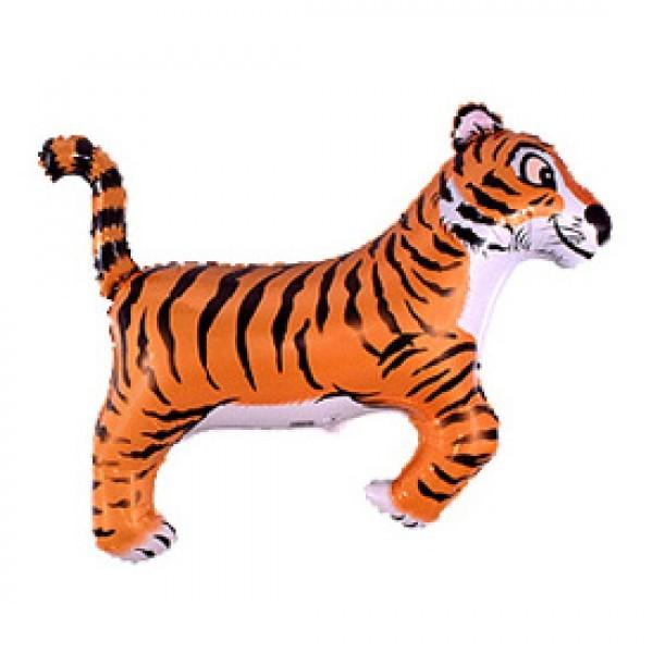 Шар из фольги «Тигр»Из фольги с рисунком<br>Размер: 91 см (36) Производитель: Flexmetal, Испания<br>