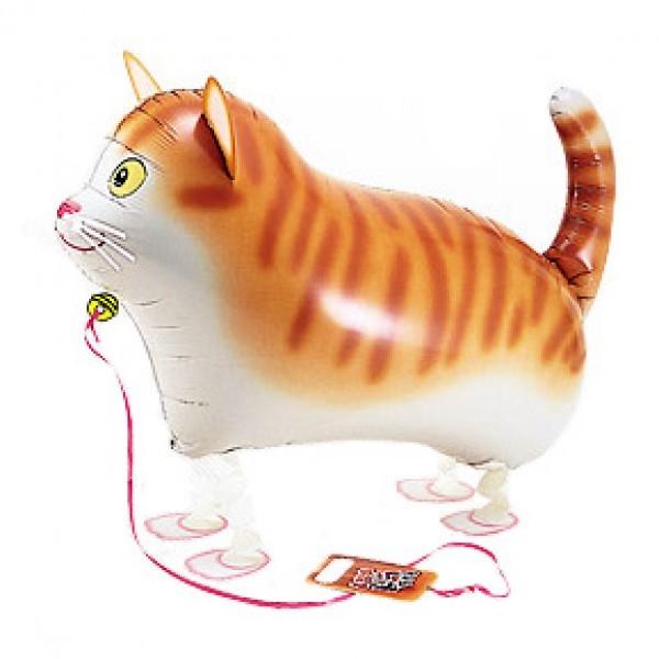 Ходящий шар «Кот»Ходящие шары<br>Размер: 60 см (82)<br> Производитель: S.A.G. Balloons, Япония<br>