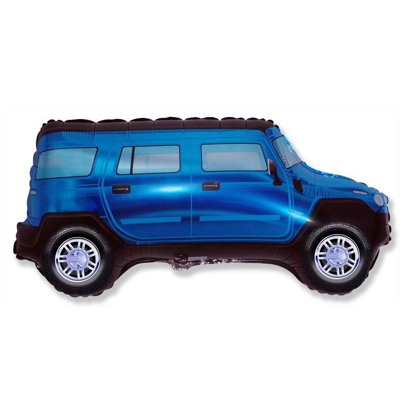 Шар из фольги «Синий внедорожник»С техникой<br>Длина: 104 см Производитель: Flexmetal, Испания<br>