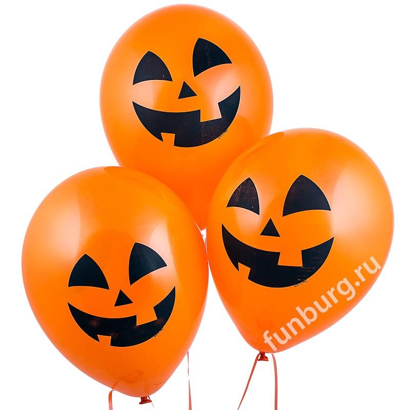 Воздушные шары «Оранжевые тыквы»Латексные с рисунком<br>Размер: 30 см (11)Производитель: Qualatex, СШАЦвет: оранжевый<br>