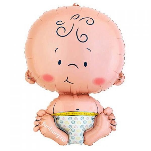 Шар из фольги «Малыш»Из фольги с рисунком<br>Размер: 41?61 смПроизводитель: Anagram, США<br>