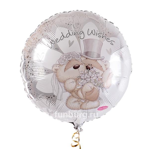 Шар из фольги «Свадебные пожелания»Из фольги с рисунком<br>Размер: 46 см (18)Производитель: CTI, США<br>
