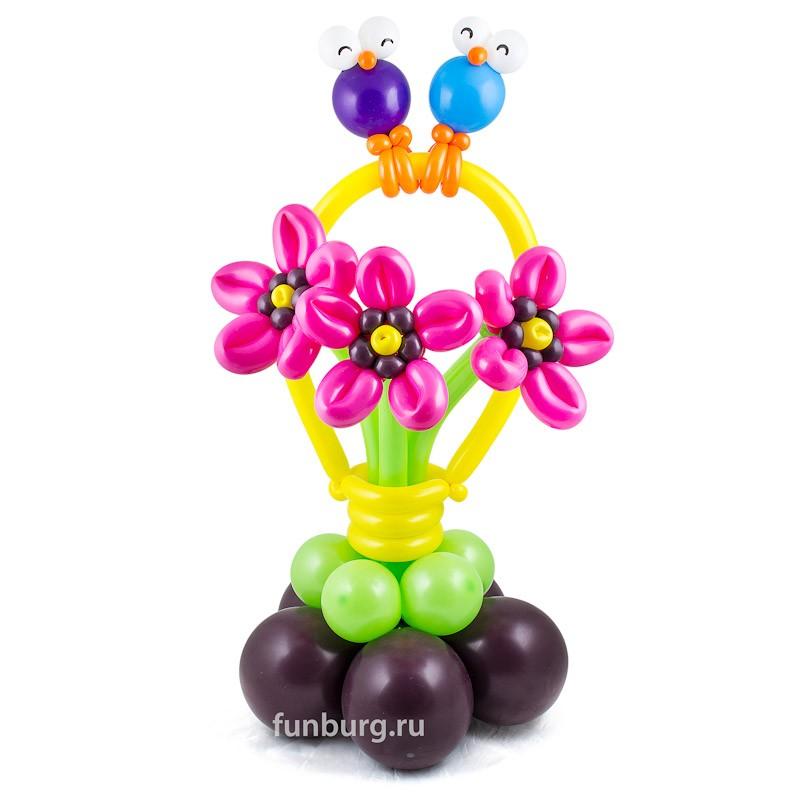 Фигура из шаров «Первый день весны»Все фигуры<br>Высота: 90 см<br>