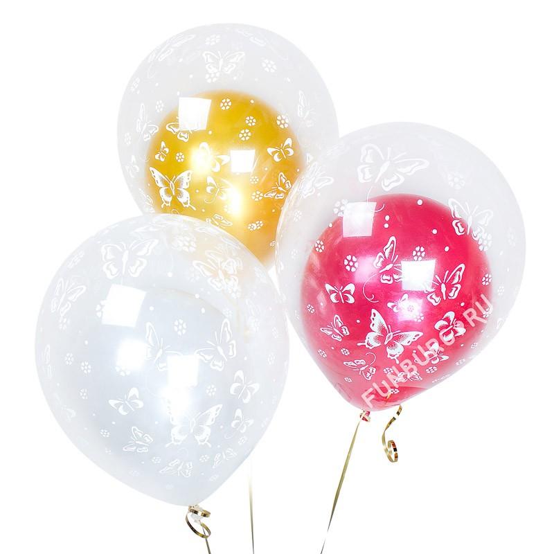Воздушные шары «Шар в шаре»Свадьба<br>Размер: 40 см (16)<br>Производитель: Sempertex, Колумбия<br>