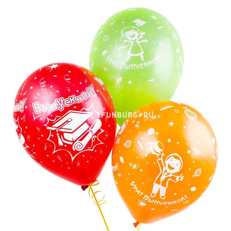 Воздушные шары «Выпускной!»Выпускной<br>Размер: 30 см (12)Производитель: Sempertex, КолумбияЦвет: разноцветные шары с выпускниками<br>