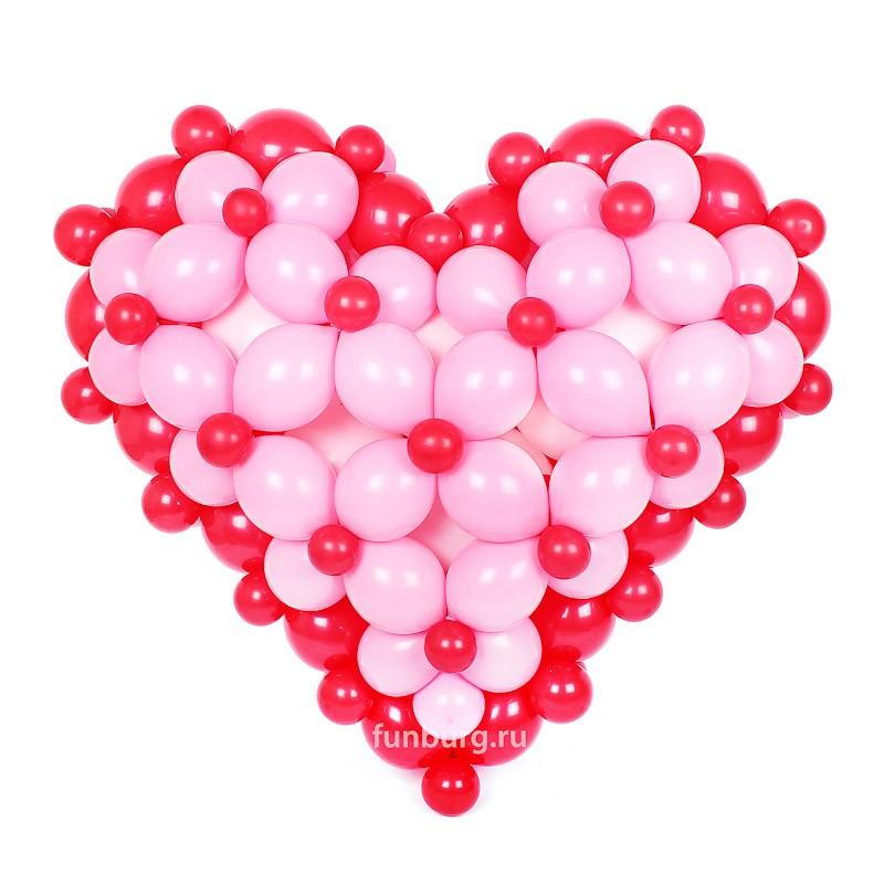 Фигура из шаров «Волшебное сердце»Все фигуры<br>Размер: 100?100 см<br> Производство: Funburg.ru<br>Сердце может быть выполнено в другом цвете или размере, в зависимости от вашего желания! Консультируйтесь с операторами интернет-магазина.<br>