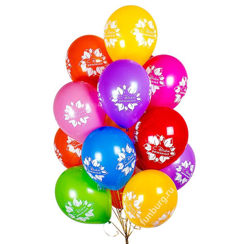 Букет шаров «День рождения принцессы»Букеты шаров<br>Состав: 15 шариков и груз<br> Размер: 30 см (12)<br> Производитель: Sempertex, Колумбия<br> Цвет: ассорти (пастель)<br>