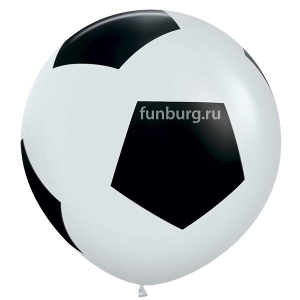 Метровый шар «Футбольный мяч»Футбол<br>Диаметр: 80 см<br> Производитель: Sempertex, Колумбия<br>
