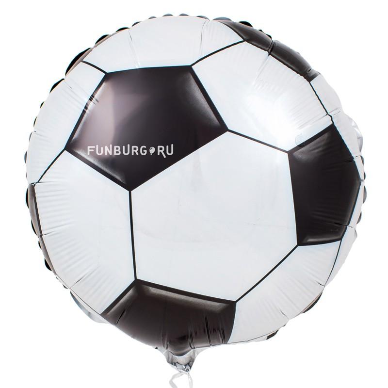 Шарик из фольги «Футбольный мяч»Из фольги с рисунком<br>Размер: 45 см (18)<br> Производитель: Anagram, США<br><br> Стоимость фольгированного шара без гелия: 70.-<br><br>