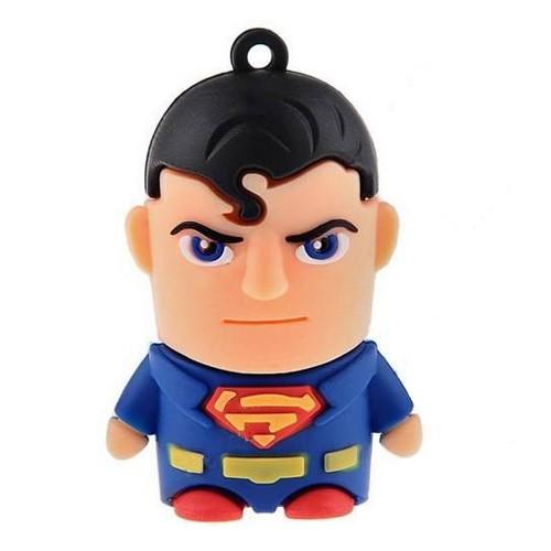 USB-flash 8Gb «Супермен»Креативные флешки<br>Размер: 4,5?3?2 см <br>Материал: пластик, резина, металл <br>Объем: 8 Гб<br>