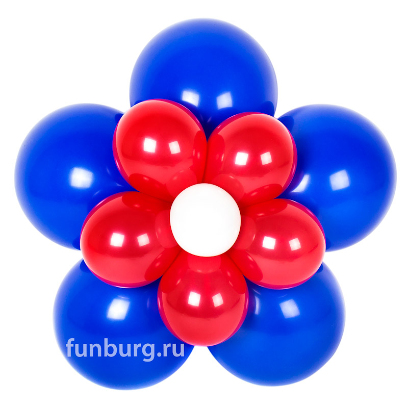 Фигура из шаров «Цветок с воздухом»Все фигуры<br>Размер (большой цветок): 60 см<br>Размер (малый цветок): 30 см<br>