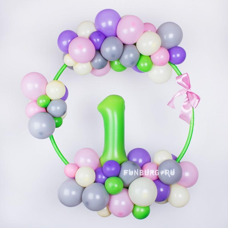 Элемент оформления «Bubblegum»С цифрами<br><br> Высота фигуры:<br><br><br> диаметр 65-75 см<br><br>