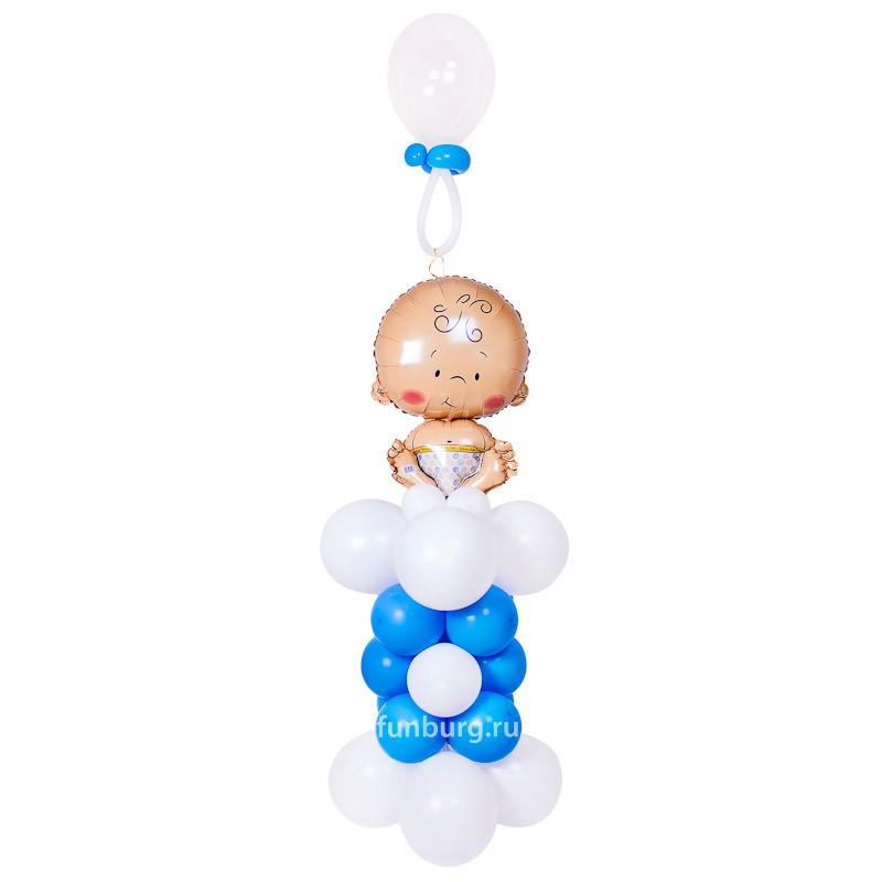 Фигура из шаров «Малыш с соской»Все фигуры<br>Размер: 180?60 см<br>Производство: Funburg.ru<br>