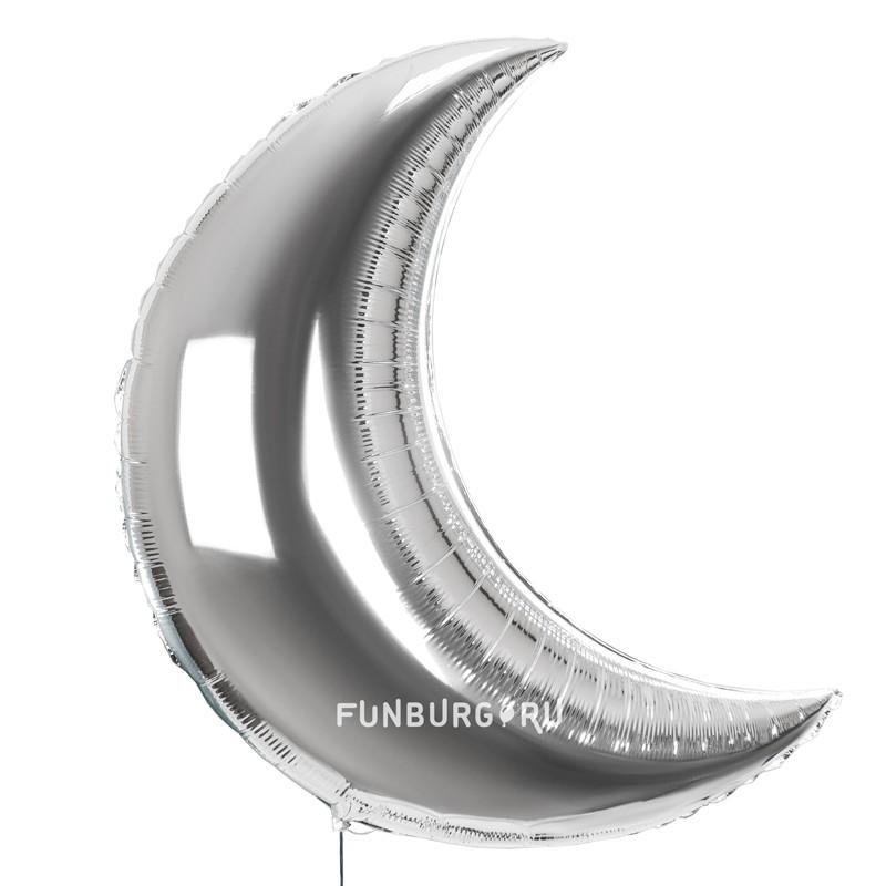 Шар из фольги «Полумесяц серебряный»Из фольги без рисунка<br>Размер: 89 см (36)<br>Производитель: Flexmetal, Испания<br>