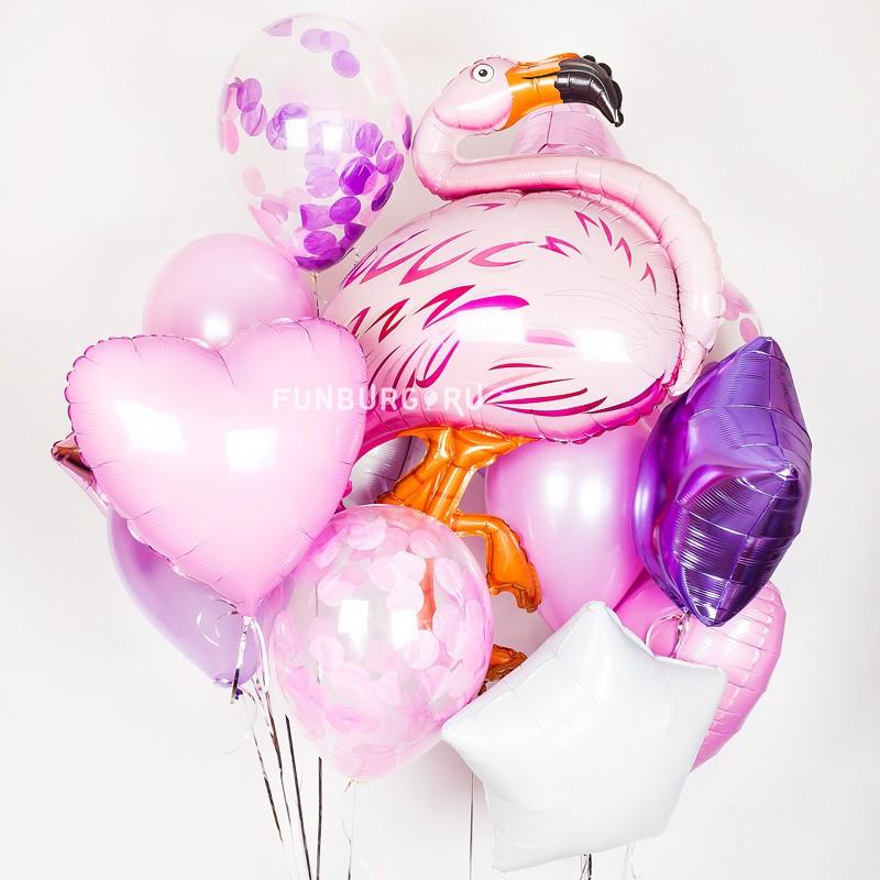 Набор шаров «Фламинго»Букеты шаров<br>Вы можете корректировать количество шаров в наборе по своему желанию.<br>