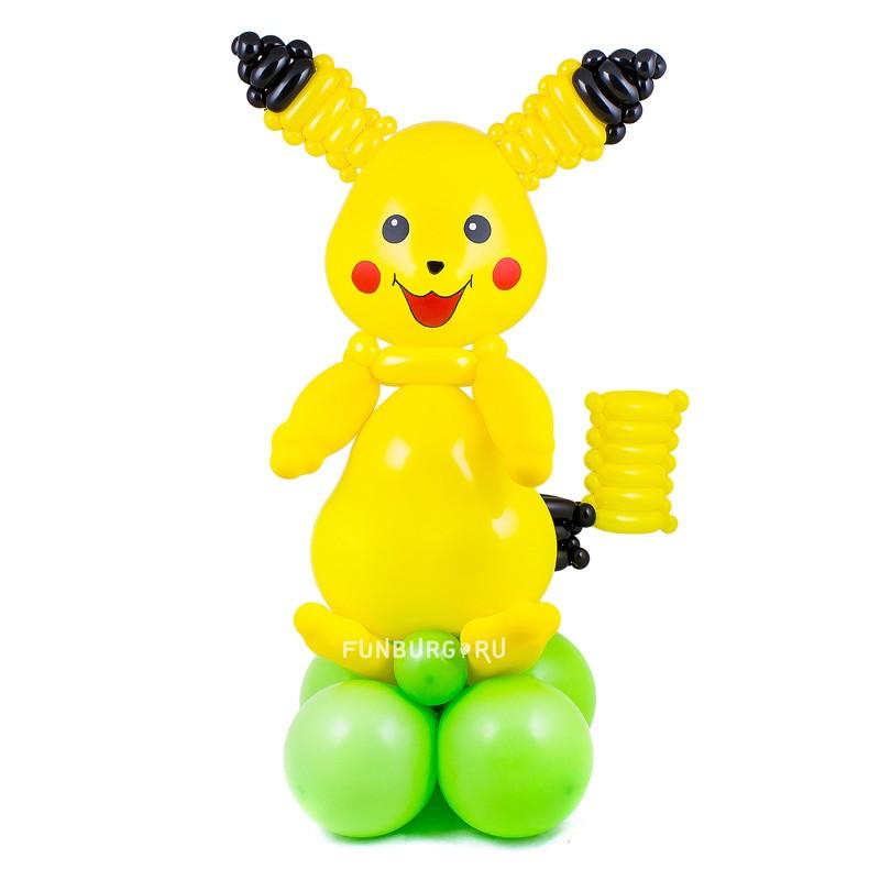 Фигура из шаров «Пикачу»Персонажи<br>Высота фигуры: 70-80 см<br> Производство: Funburg.ru<br>