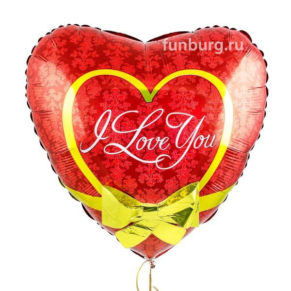 Шар из фольги «Сердце с бантиком»В форме сердца<br>Размер: 58 см (22)Производитель: Betallic, США<br>