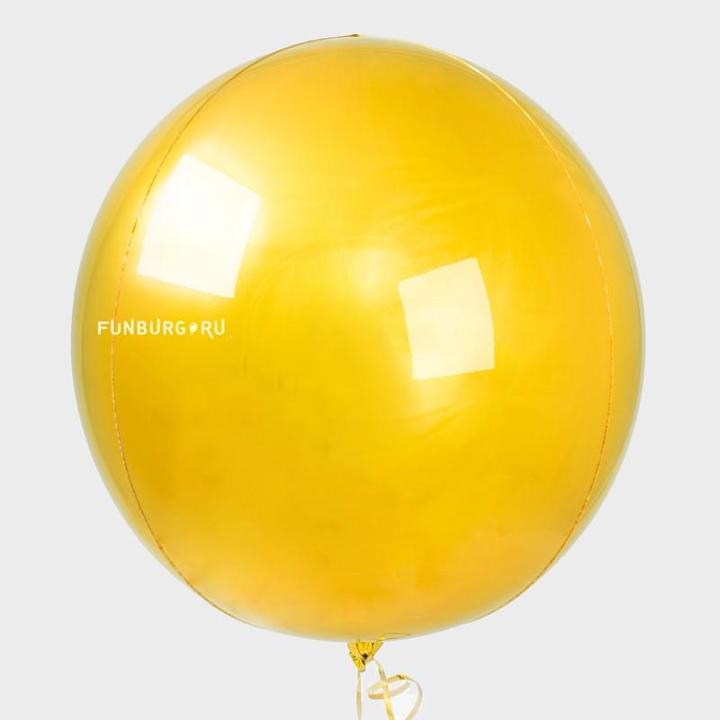 Шар из фольги «Сфера» (золотая)На вечеринку<br>Размер: 49 см (20)<br>Цвет: золотой (зеркальный)<br>Производитель: Anagram, США<br>