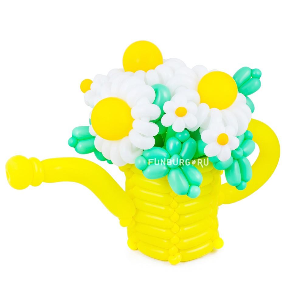 Фигура из шаров «Лейка с букетом»Цветы из шаров<br> <br>Размер:<br><br><br>высота 40-50 см<br><br>