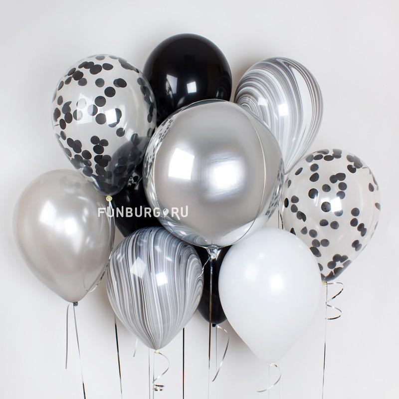Набор шаров «Оникс»Букеты шаров<br>Вы можете корректировать количество шаров в наборе по своему желанию.<br>