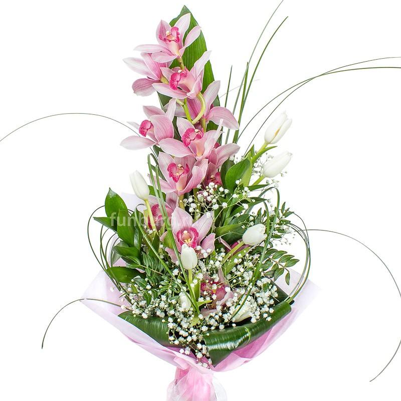 Букет «Багамская свежесть»с орхидеями<br><br>