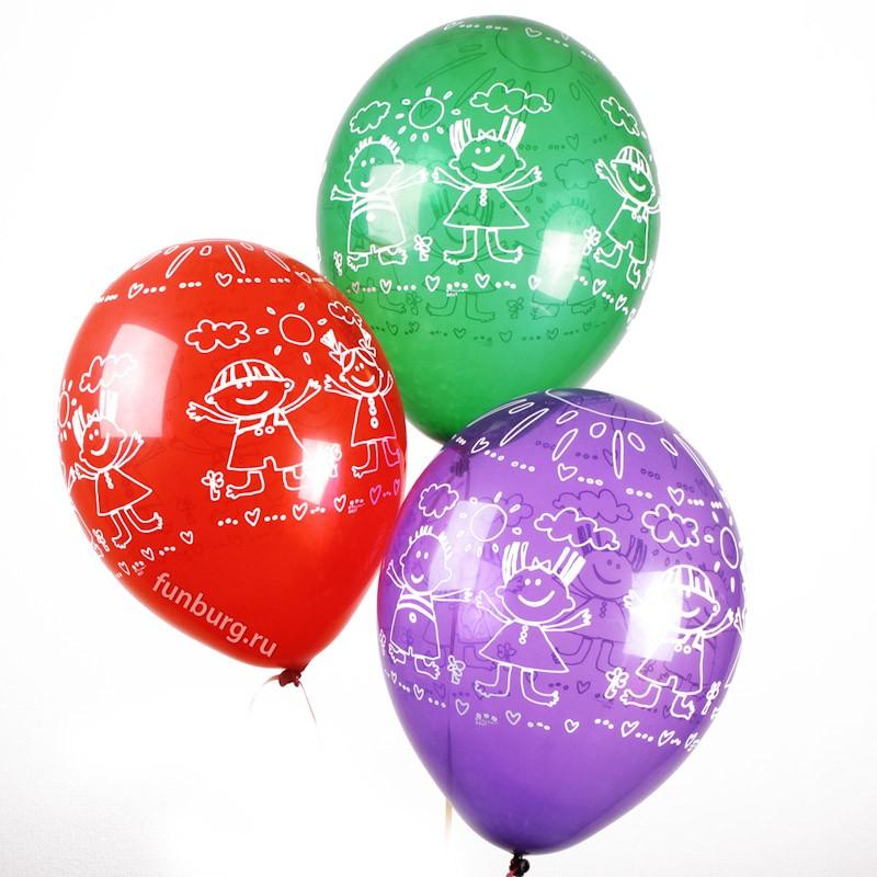 Воздушные шары «Дети и солнце»Для детей<br>Размер: 35 см (14)Производитель: Belbal, Бельгия<br>