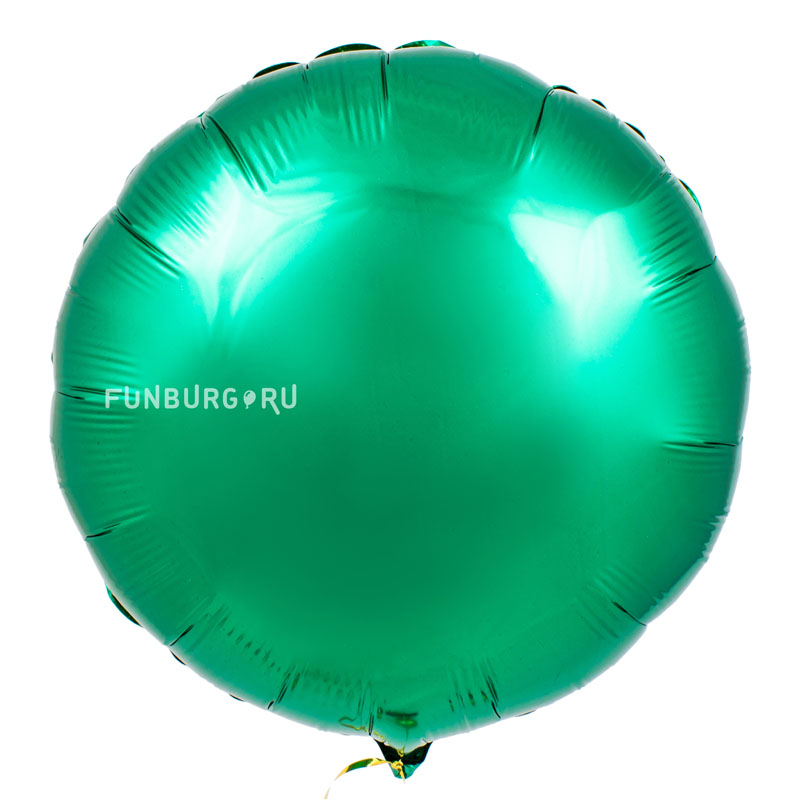 Шар из фольги «Зелёный круг»Новый год<br>Размер: 45 см (18)<br>Производитель: Flexmetal, Испания<br>