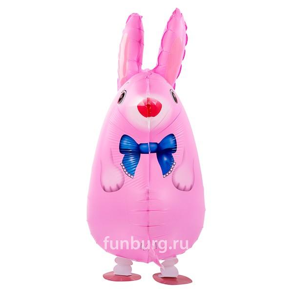 Ходящий шар «Розовый кролик»Ходящие шары<br>Размер: 64 см<br>