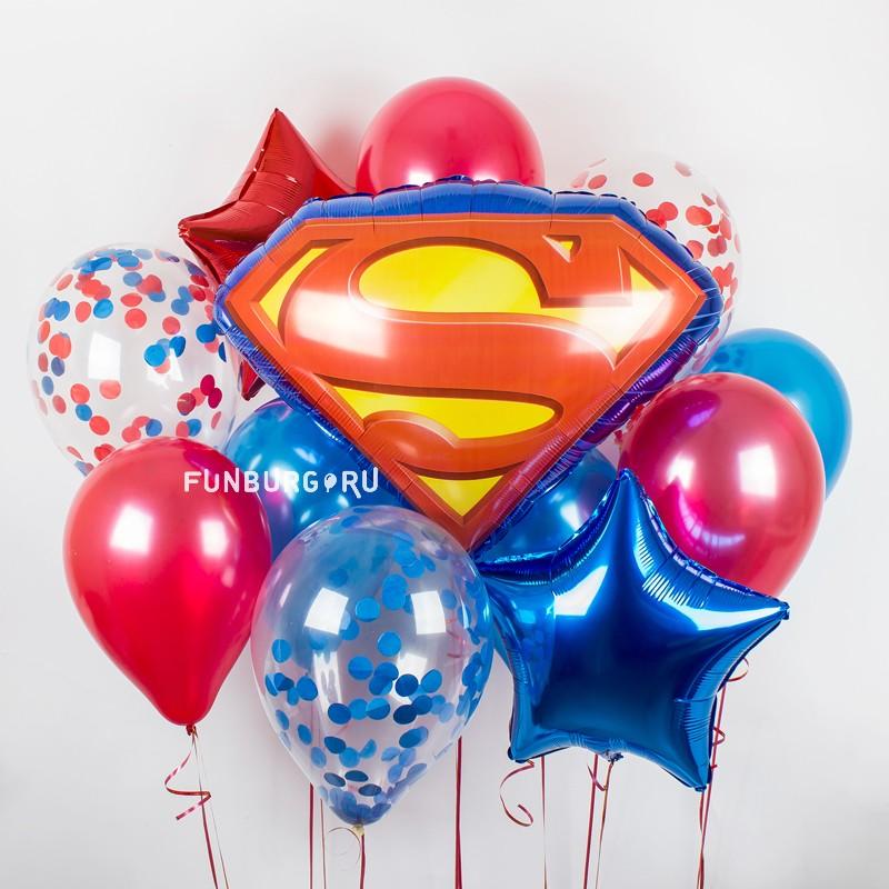 Набор шаров «Супермэн»Наборы шаров<br>Вы можете корректировать количество шаров в наборе по своему желанию.<br>