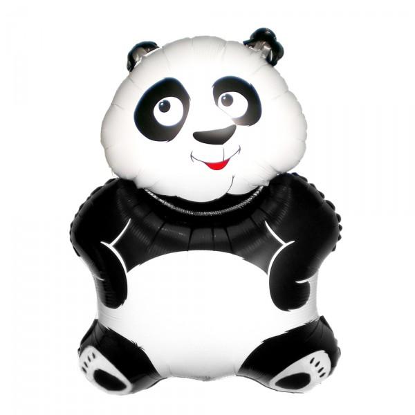 Шарик из фольги «Большая панда»Из фольги с рисунком<br>Высота: 60 см Производитель: Flexmetal, ИспанияСтоимость фольгированного шара без гелия: 100.-<br>