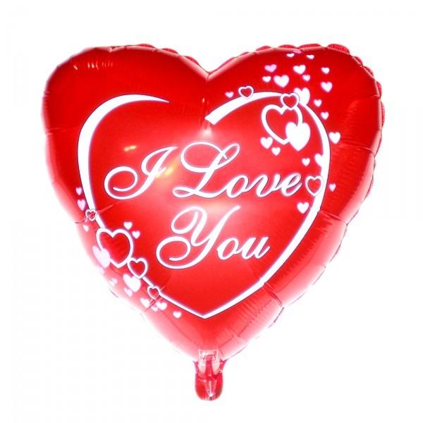 Шарик из фольги «I Love You (маленькие сердца)»Для любимых<br>Размер: 45 см (18)Производитель: Flexmetal, ИспанияСтоимость фольгированного шара без гелия: 70.-<br>