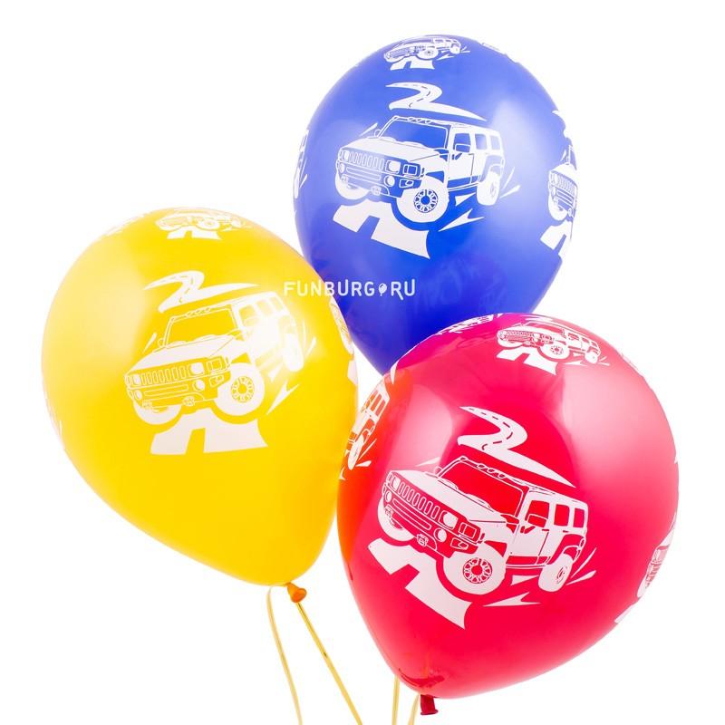 Воздушные шары «Джипы»Латексные с рисунком<br>Размер: 30 см (12)Производитель: Sempertex, КолумбияЦвет шаров: ассорти (пастель)<br>