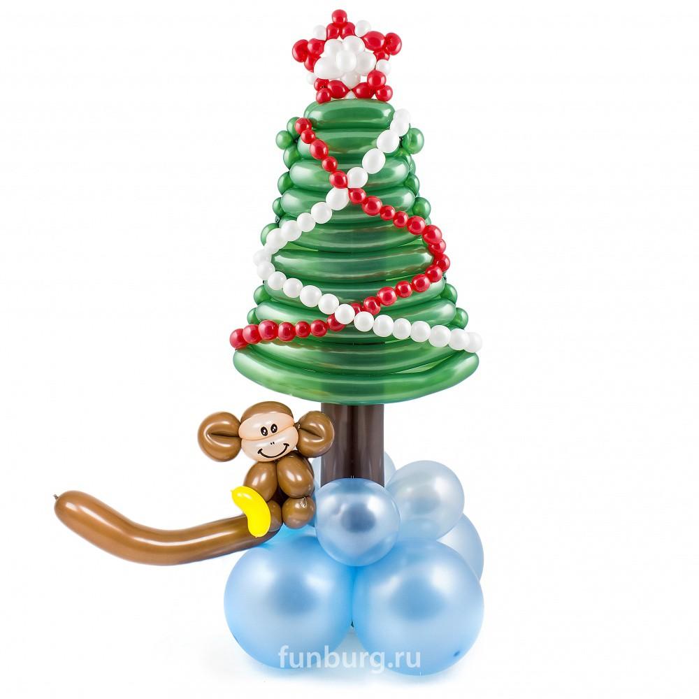 Фигура из шаров «Изящная ёлочка 2016»Все фигуры<br>Высота: 65-70 см<br> Производитель: Funburg.ru<br>