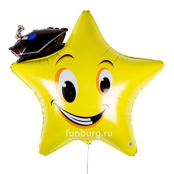 Шар из фольги «Звезда выпускник»Из фольги с рисунком<br>Размер: 71 смПроизводитель: Anagram, США<br>