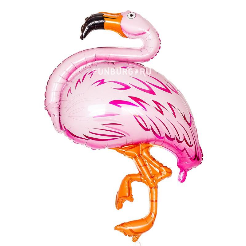 Шар из фольги «Фламинго»Из фольги с рисунком<br>Размер: 100 см<br>Производитель: Flexmetal, Испания<br>