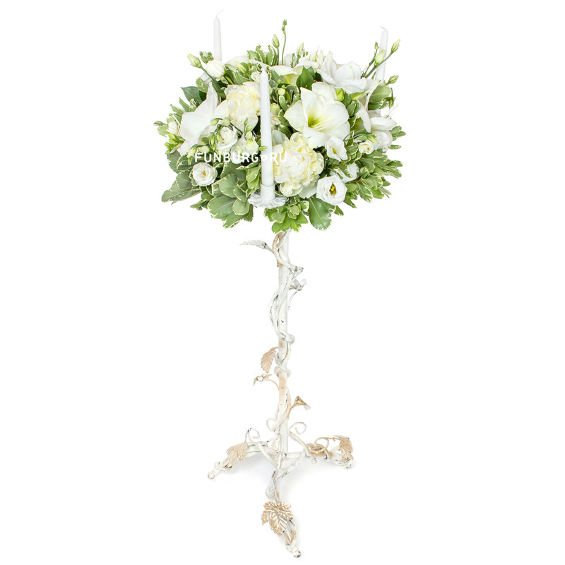 Напольная свадебная композиция на стойкеКомпозиции на стол<br> <br>Размер:<br><br><br>высота 100 см<br>