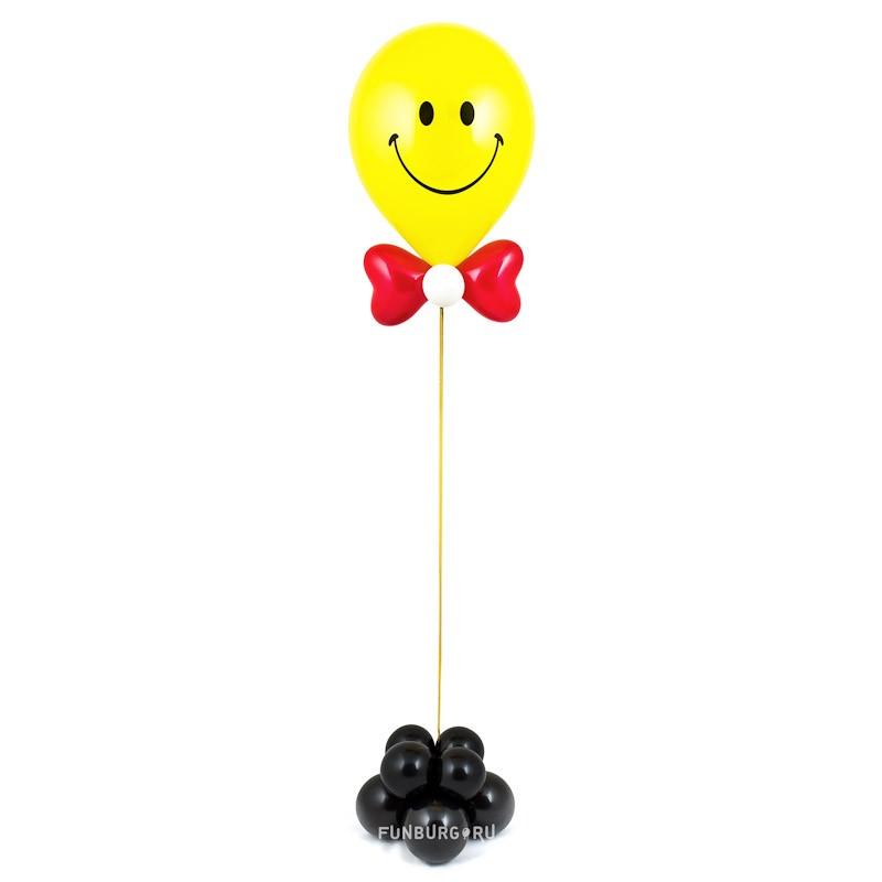 Фигура из шаров «Мистер Смайл»Все фигуры<br><br> Размер:<br><br><br> высота от 50 до 150 см<br><br><br> Производство:<br><br><br> Funburg.ru<br><br><br>