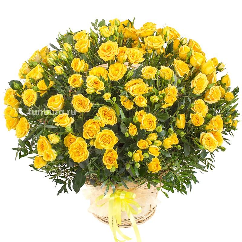Корзина цветов «Бразилия»Корзины цветов<br> <br>Размер:<br><br><br>высота 40-50 см, диаметр 45-55 см<br><br>