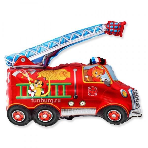 Шар из фольги «Пожарная машина»Из фольги с рисунком<br>Длина: 81 см Производитель: Flexmetal, Испания<br>