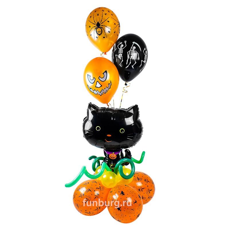 Фигура из шаров «Счастливый котенок»Все фигуры<br>Размер: 180?45 см<br>Производство: Funburg.ru<br>