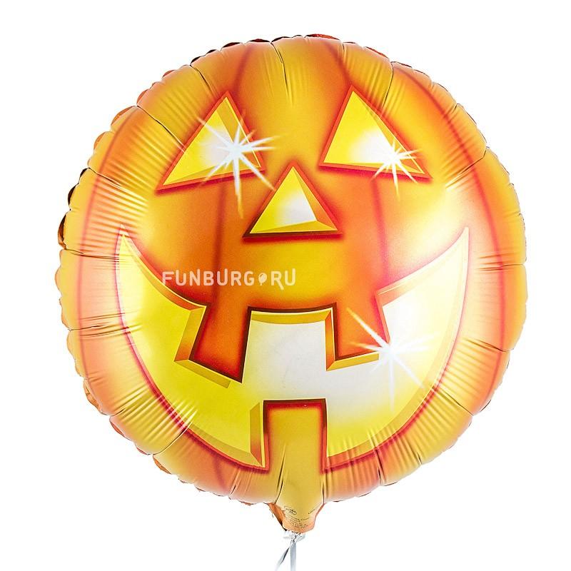 Шар из фольги «Тыква на Хэллоуин»Из фольги с рисунком<br>Размер: 45 см (18)Производитель: Anagram, США<br>