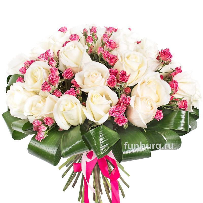 Букет роз «Венецианское кружево»с розами<br><br>