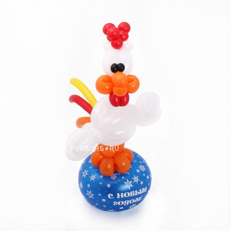 Фигура из шаров «Петушок»Новый год<br><br> Высота фигуры:<br><br><br> около 45-50 см<br><br><br> Производство:<br><br><br> Funburg.ru<br><br>