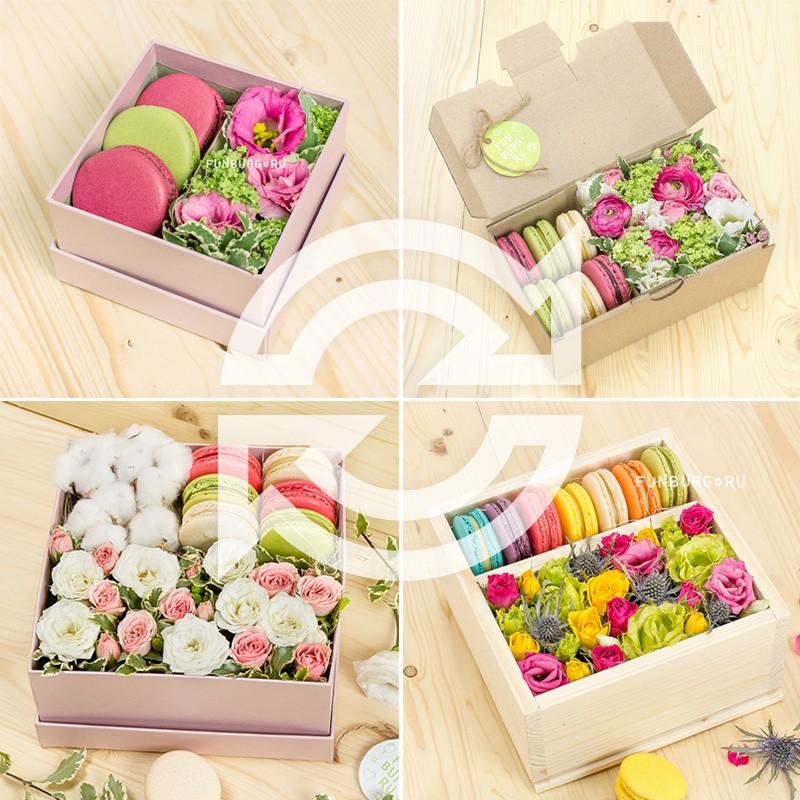 Подписка на цветы и макаруныЦветы и макаруны<br><br> Состав:<br><br><br> 4 доставки композиций с цветами и макарунами<br><br><br>
